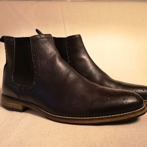 Leather Brogued Chelsea Boots sz 9 UK
